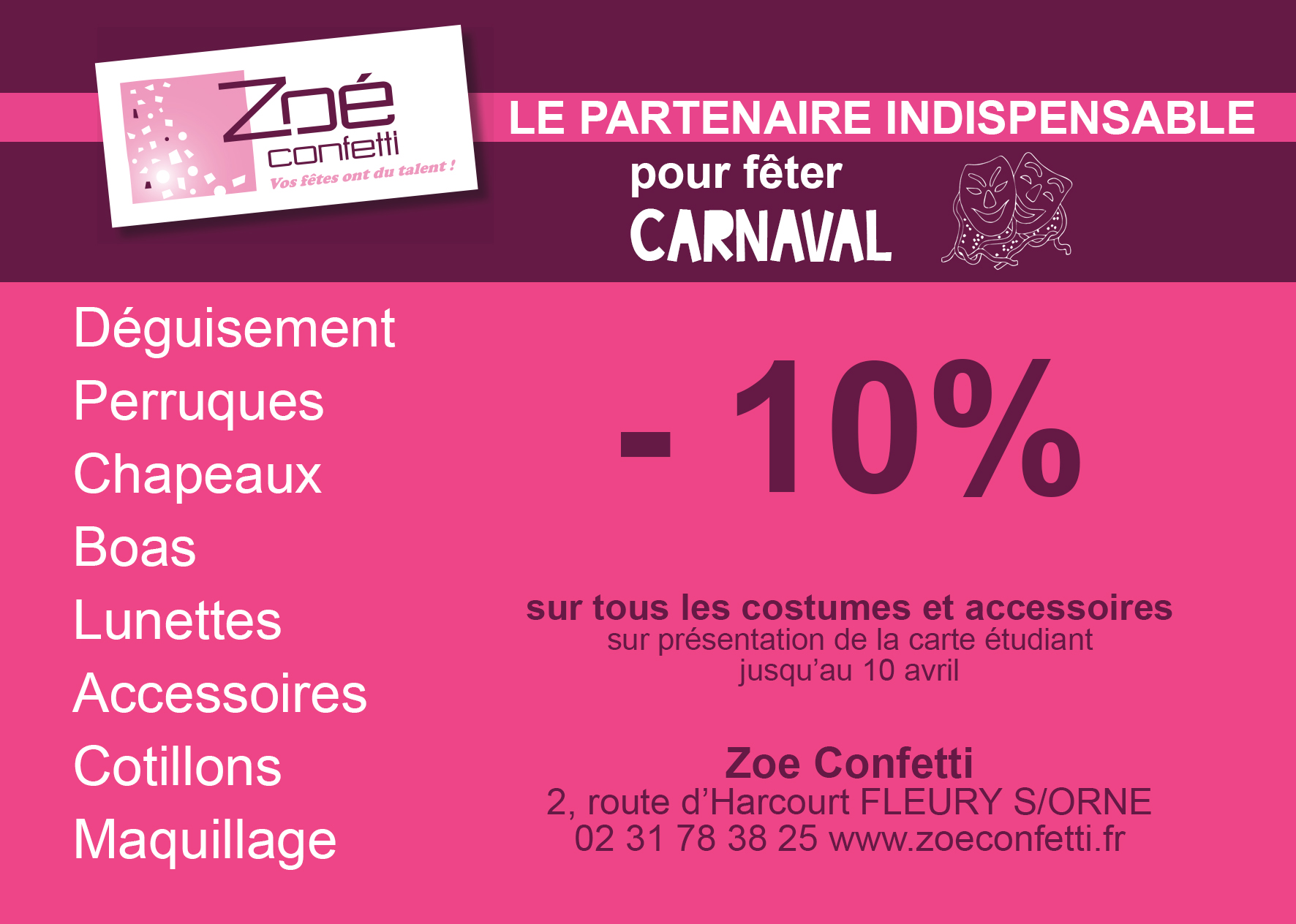 zo confetti partenaire du carnaval etudiant de caen f d ration campus basse normandie. Black Bedroom Furniture Sets. Home Design Ideas